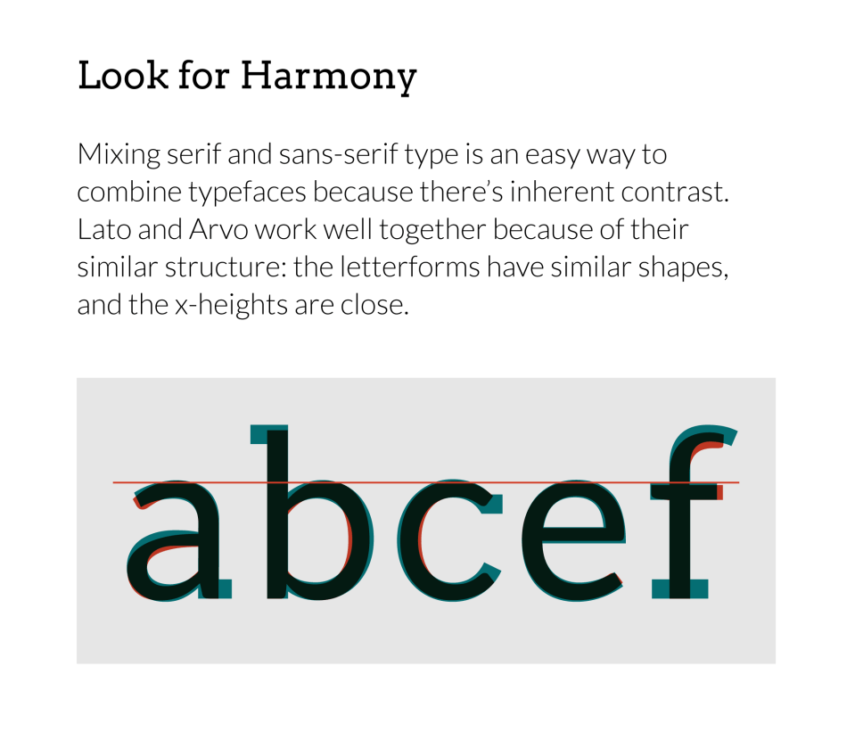 serif with sans-serif