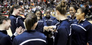 UConn Women Huddle