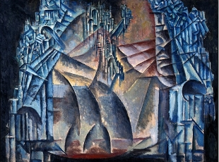 "Max Weber, ""Interior of the Fourth Dimension,"" (1913)"