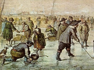 "Hendrick Avercamp, ""A Scene on the Ice,"" ca. 1625. Courtesy: Teylers Museum, Haarlem."