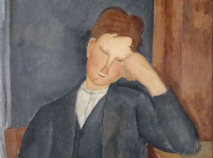 "Amedeo Modigliani, ""The Young Apprentice,"" 1918-1919. Courtesy: Musée de l'Orangerie, Paris."