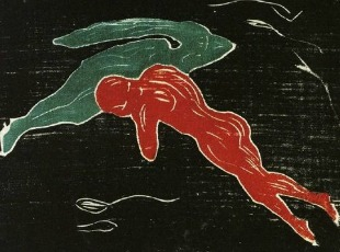 "Edvard Munch, ""Meeting in Outer Space,"" (1899)."