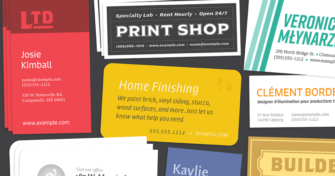 Download Browse fonts in the Business Card Pack font pack   Adobe ...