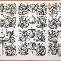 Twelve Ornamental Designs For Wash Basin Tops, Mirrors etc