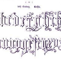 Typography - Alphabet - Ornamental, Renaissance, medieval