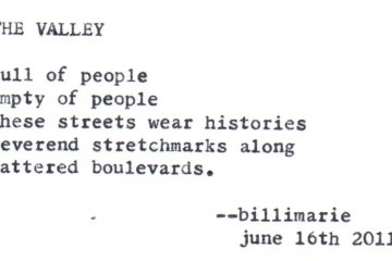 """The Valley"" by billimarie typewriter poetry"
