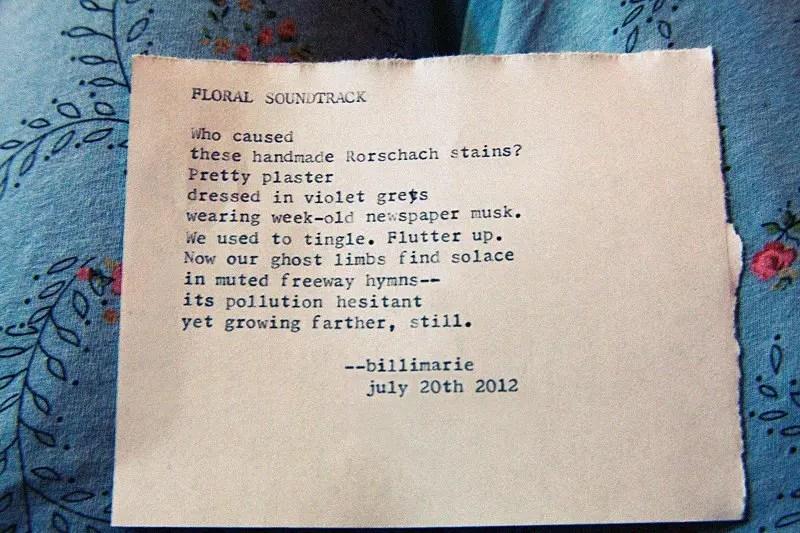 """""""Floral Soundtrack"""" poem by billimarie"""