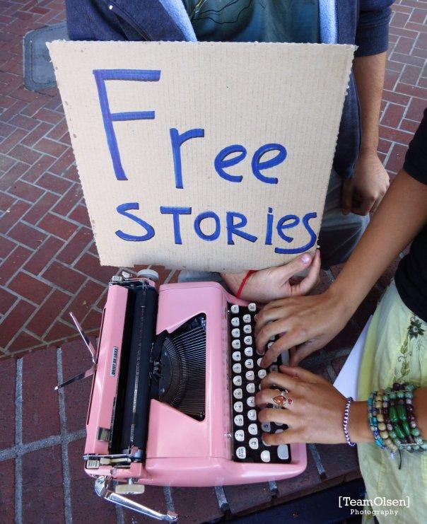 Free Stories Typewriter Poetry Pink Kindness Bracelets