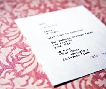 """""""Take"""" by Billimarie Lubiano Robinson - You rummage through faces / you face me / your wilt"""" (Typewriter Poetry)"""