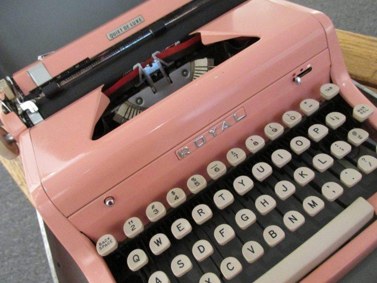 Coral Pink Light Typewriter Royal Typewriter Poetry billimarie