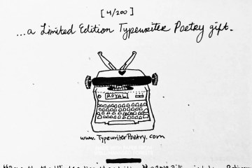 """Typewriter Poetry - Snail Mail, Letter Art - """"Beneath The Winter Lies The Waiting"""" by Billimarie Lubiano Robinson"""
