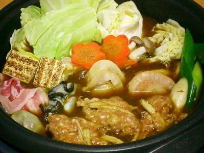 鶏団子のカレー鍋