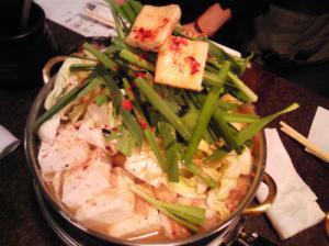 『ほんじん』の味噌味もつ鍋