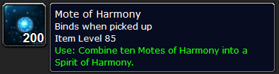 Where to farm Motes of Harmony?