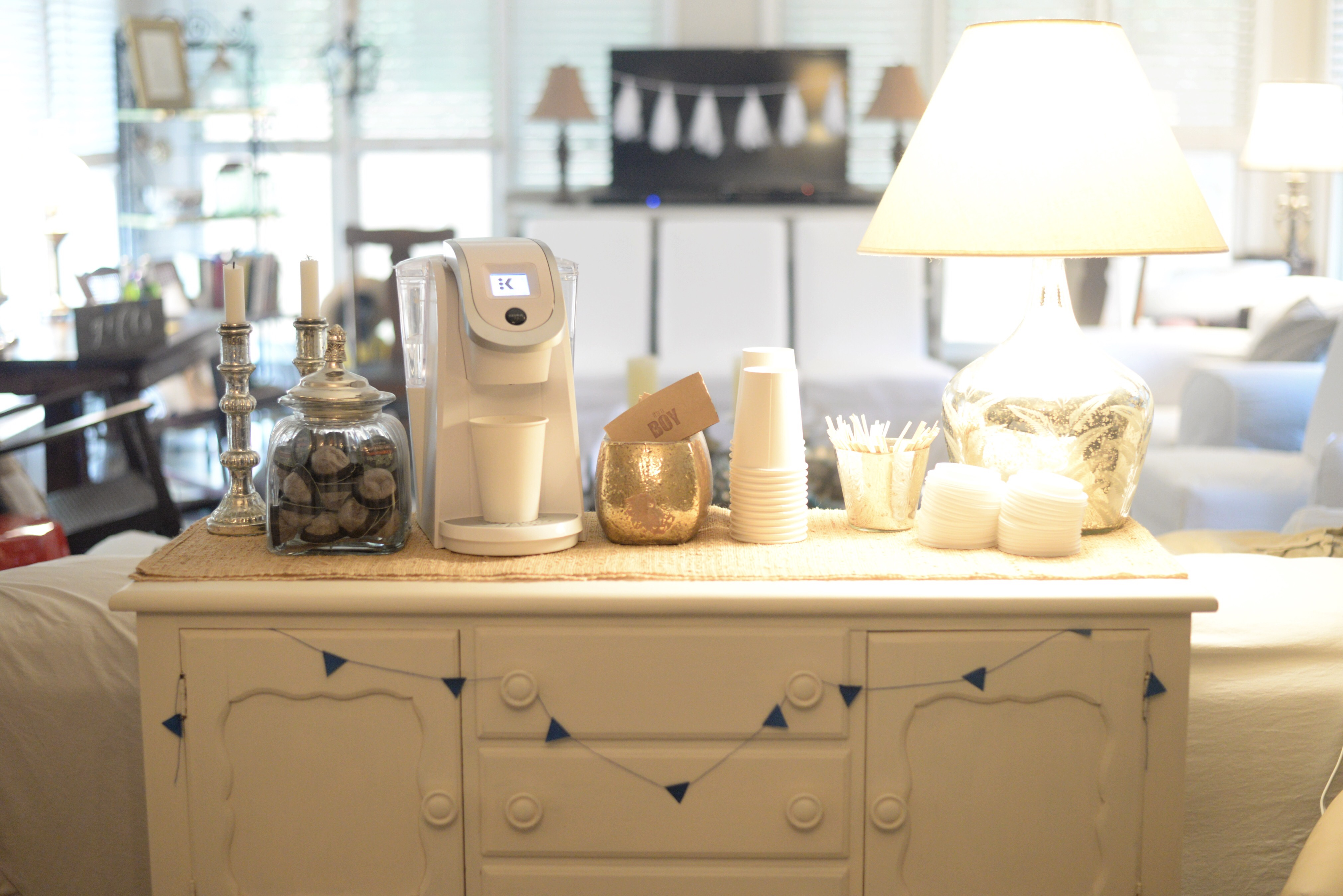 The Coffee Bar Was One Of My Favorite Parts I Cant Wait To Incorporate This Into Another Party It So Easy Pack Up Keurig K250 And Set