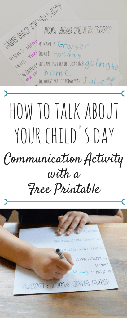 how to talk aboutyour child's day