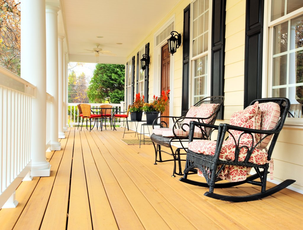curb appeal wood deck