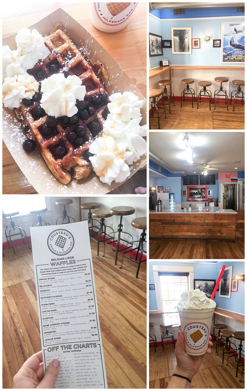 one day in st. augustine travel guide cousteau's waffles & milkshakes