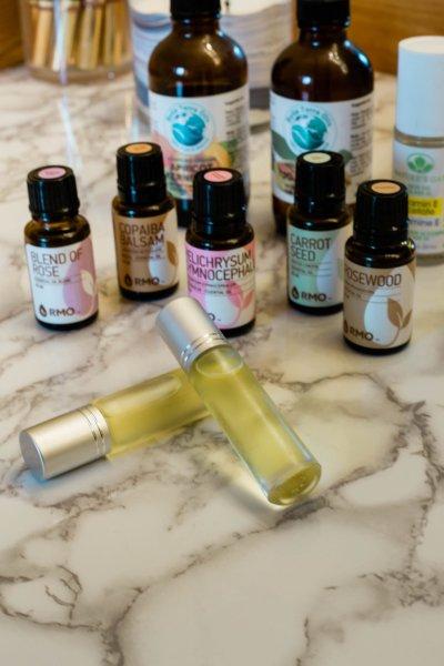 DIY Rose Facial Oil - Make your own facial oil with essential oils