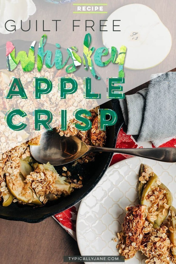 whiskey apple crisp, healthy desserts, healthy dessert, recipe, easy, under 100 calories, simple, easy, no sugar, clean, vegan,