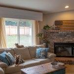 DIY Shiplap Valances, living room redo, renovation, remodel, dining room