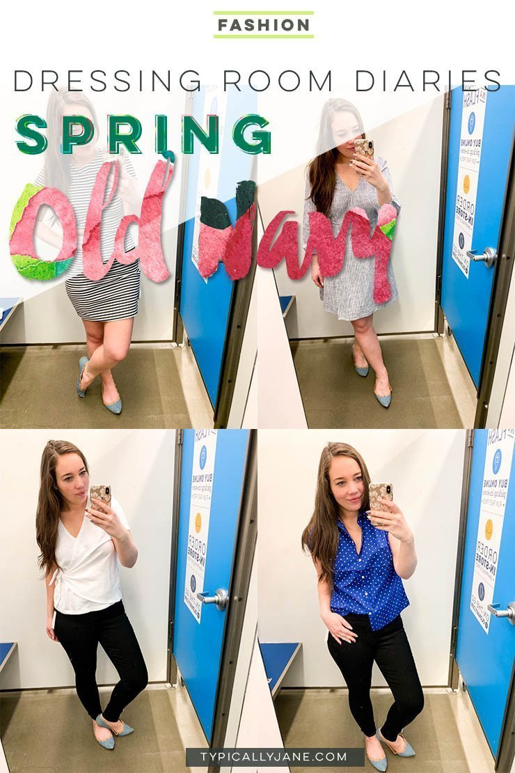 dressing room diaries old navy try on session spring outfits