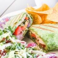 Turkey Hummus Vegetable Wrap | Easy Weeknight Dinner & Giveaway!