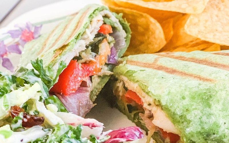 Turkey Hummus Vegetable Wrap   Easy Weeknight Dinner & Giveaway!
