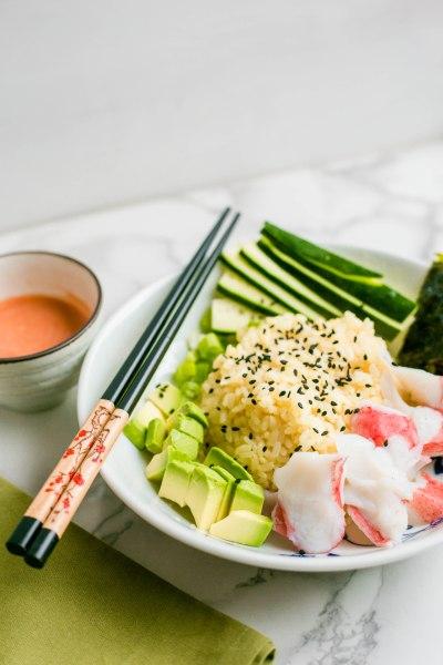 sushi dinner bowl recipe