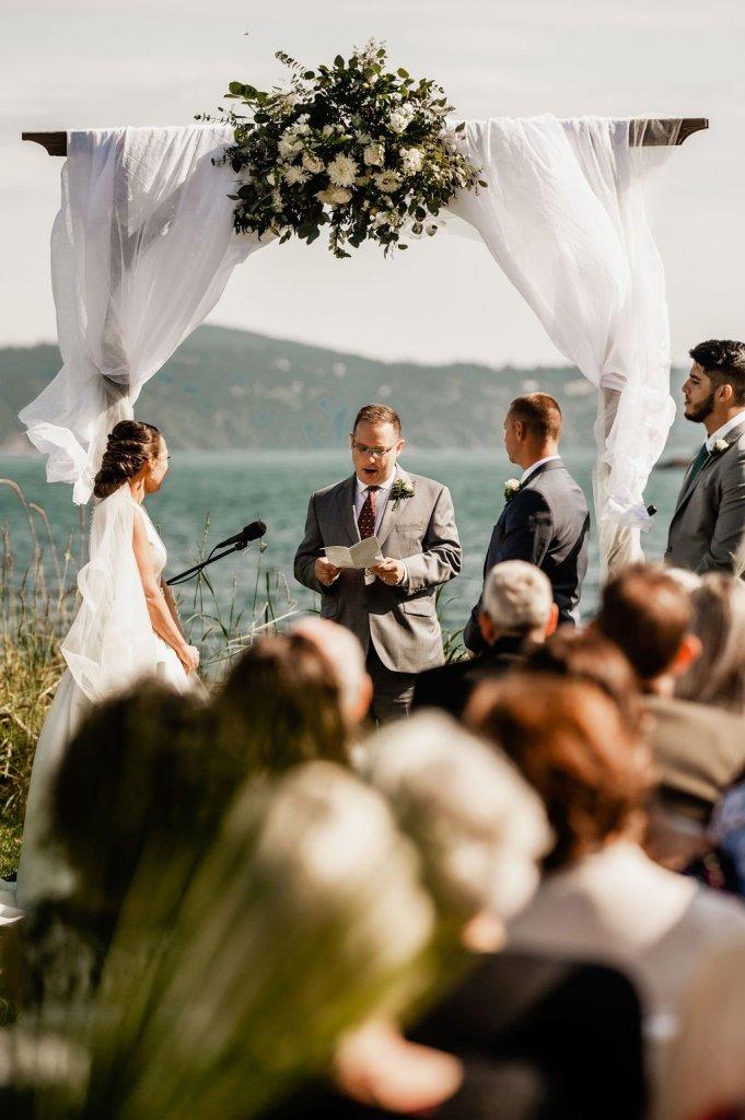 outdoor beach island wedding ceremony