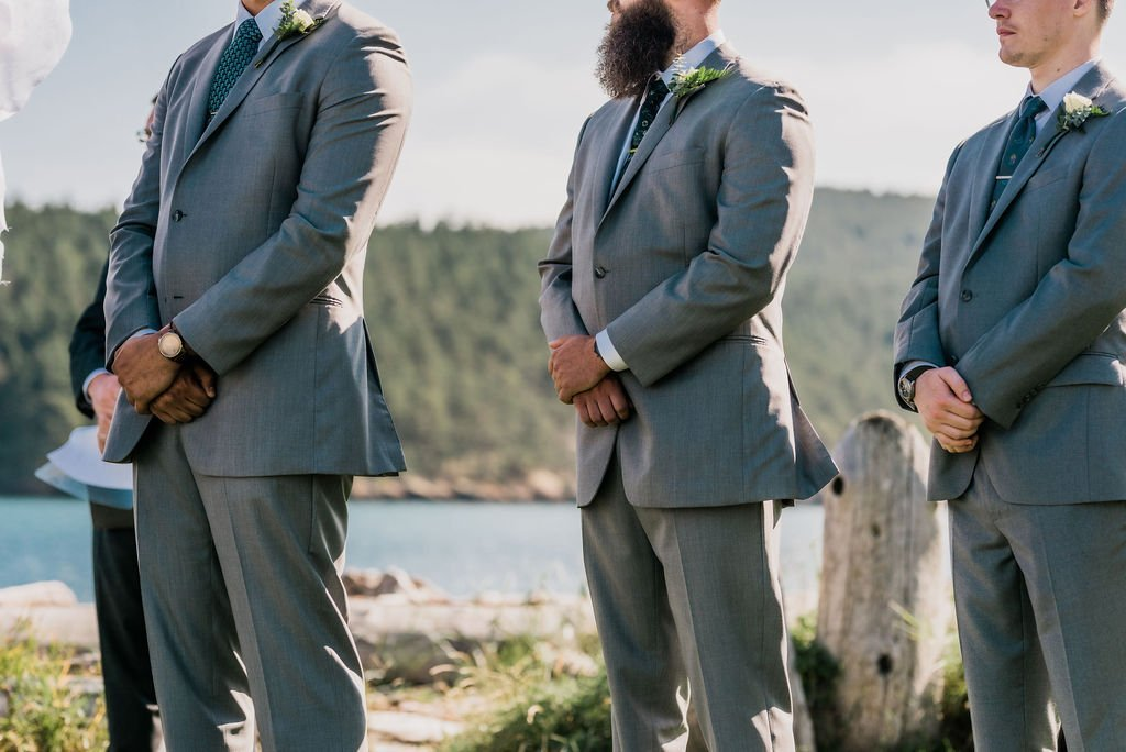 groomsmen suits with watches