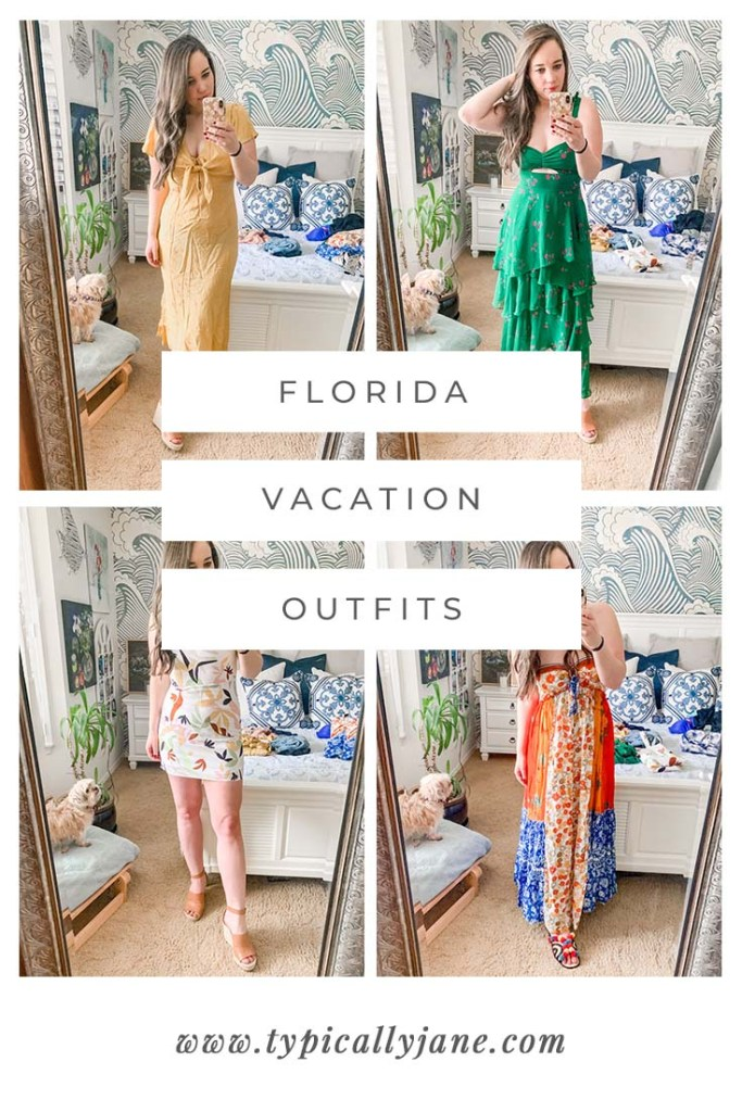 florida beach vacation outfits, travel outfit ideas for a tropical vacation