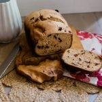 bread machine sour cherry lemon bread baking recipe