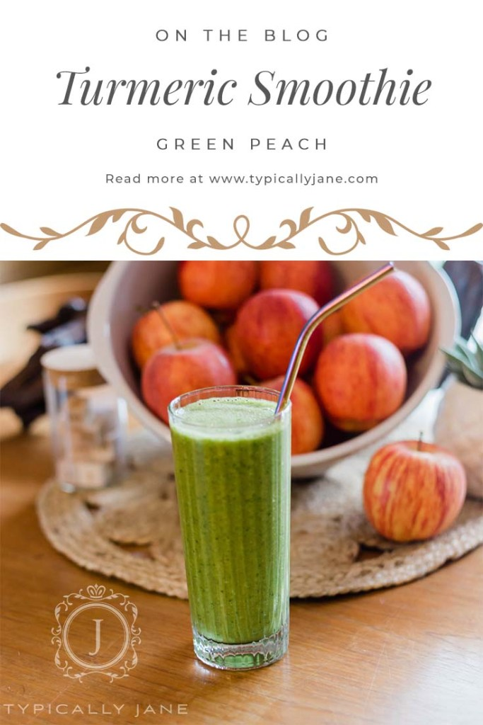 Green Peach Turmeric Smoothie Recipe