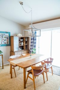 mid century modern beach house dining room