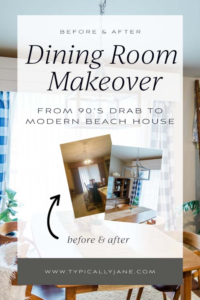 dining room makeover before and after