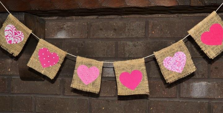 Burlap Valentine's Day Banner