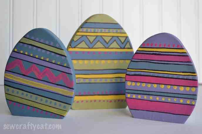 Wood Easter Eggs DIY