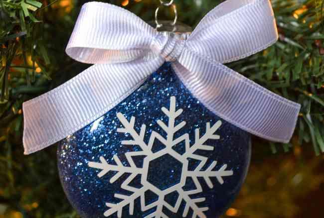 Glitter & Snowflake Christmas Ornament