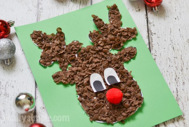 Cocoa Pebbles Reindeer Craft
