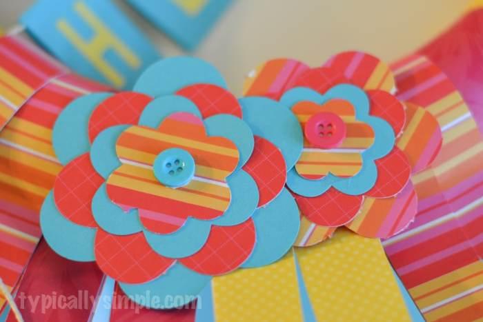 Scrapbook Paper Wreath-8