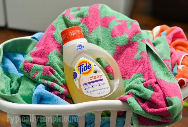 Fight Summer Stains with NEW! Tide purclean