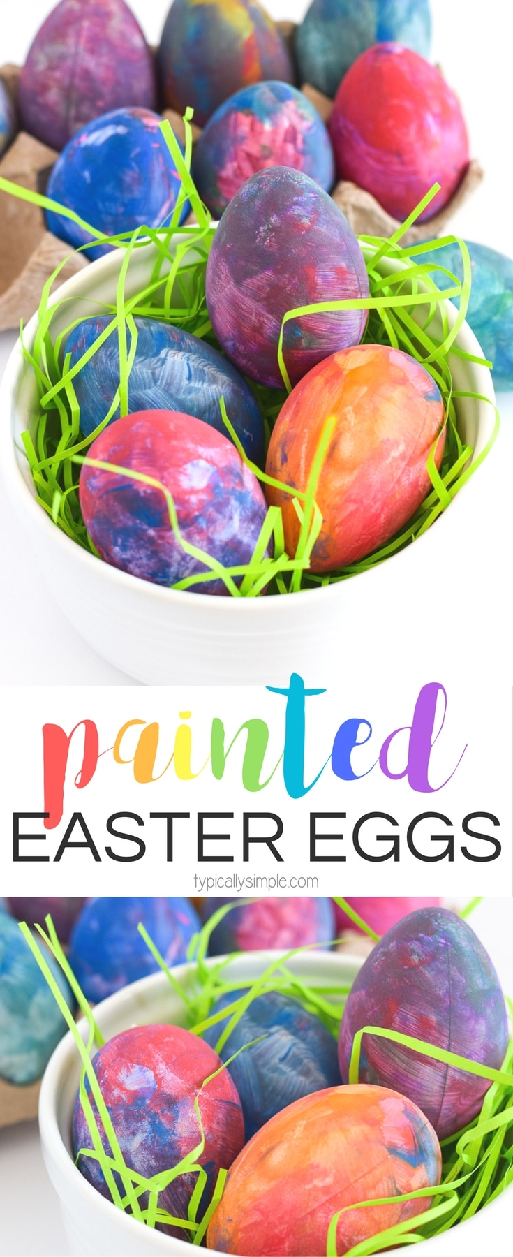 Painted Easter Eggs Craft Project