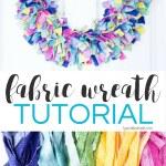 Fabric Rag Wreath Tutorial Typically Simple