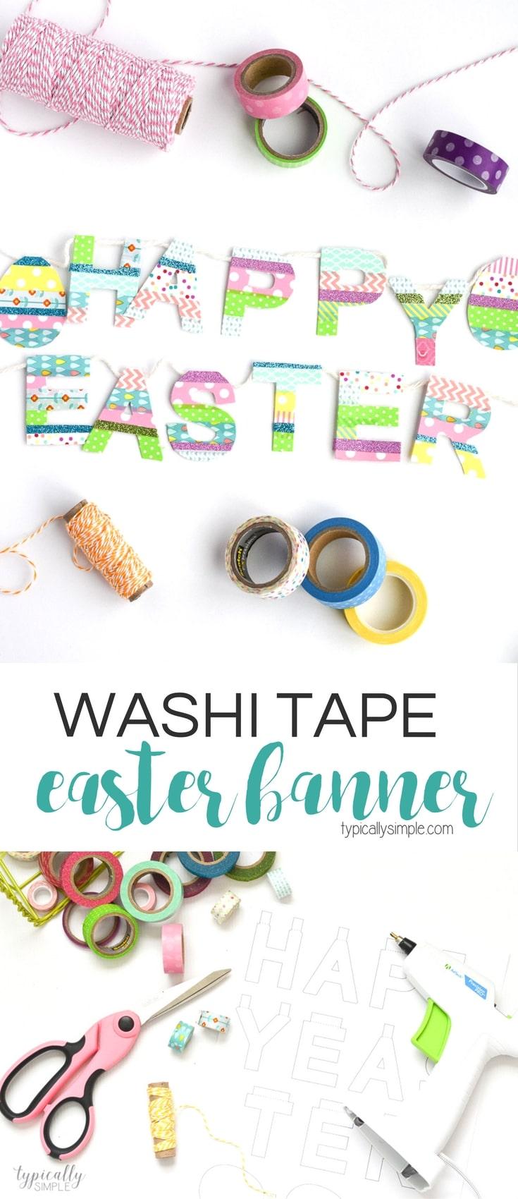 Washi Tape Easter Banner