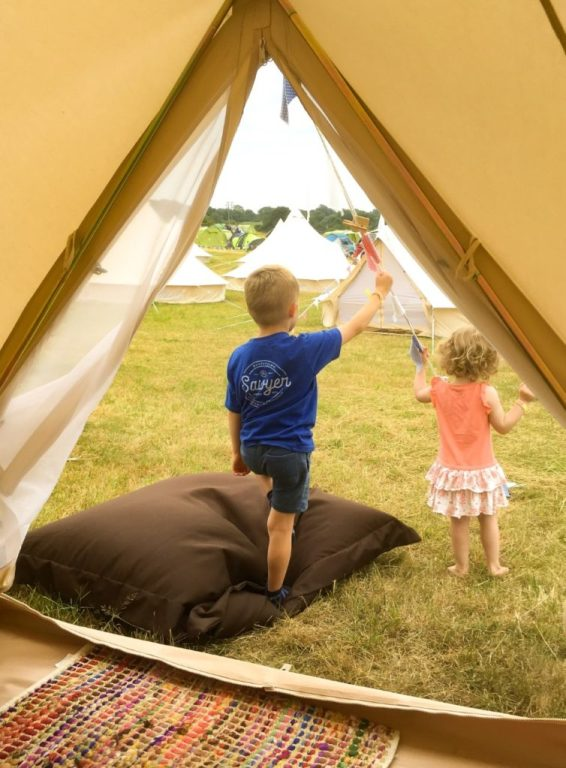 Glamping in a Bell Tent at Timber Festival