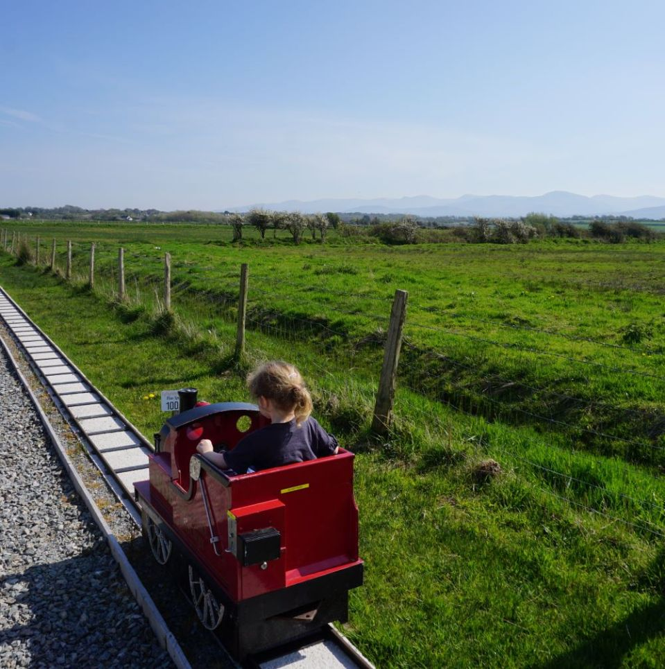 Train ride at Anglesey Model Village