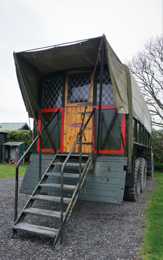 Lady Jess - 1 of 2 ex-military vehicles converted for glamping on Anglesey