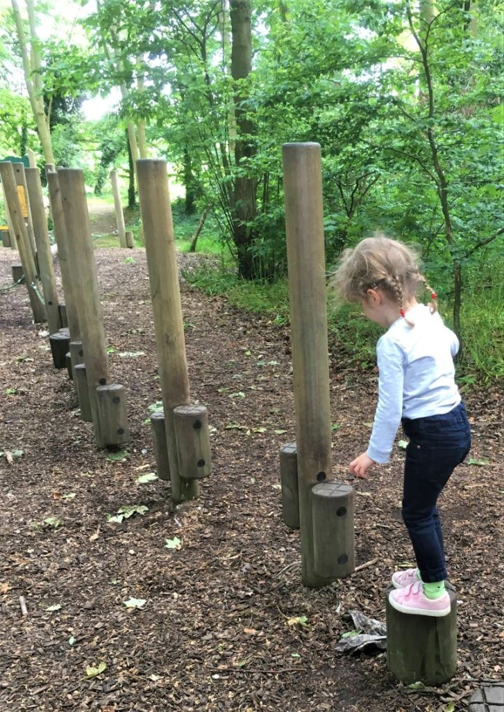 Woodland play area at Tatton park Farm