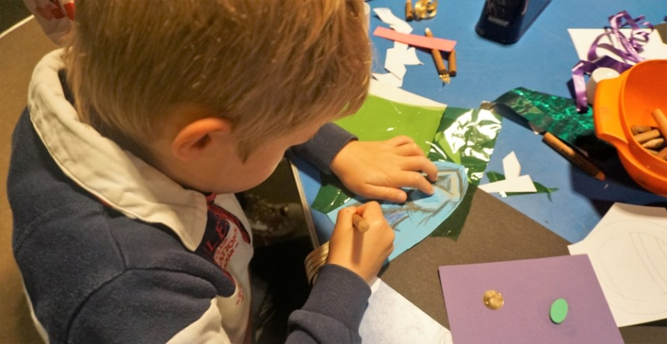 crafting at potteries museum